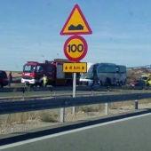 El accidente en la A-15 a su paso por Adradas, Soria.