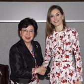 La Reina Letizia con la directora general de la OMS, Margaret Chan