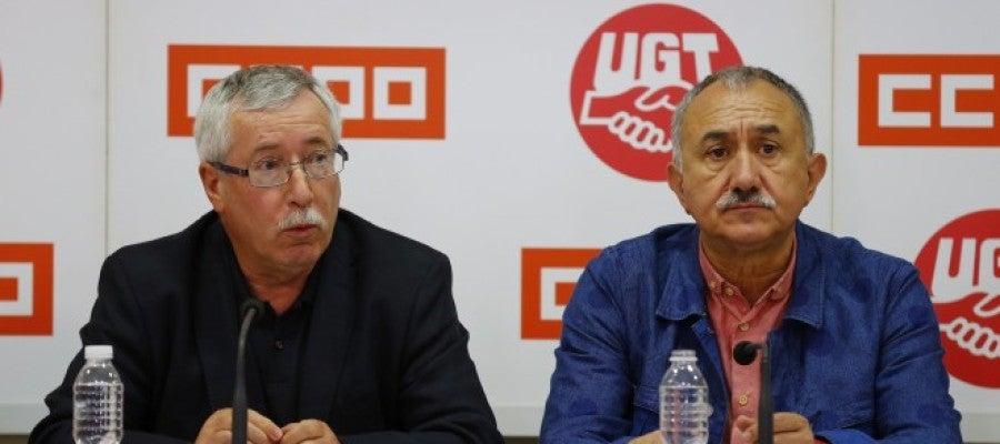 Ignacio Fernández Toxo y Pepe Álvarez
