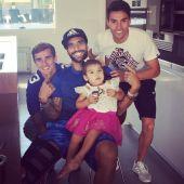 Augusto publicó una foto junto a sus compañeros Griezmann y Gaitán