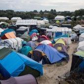 Campo de refugiados en Calais
