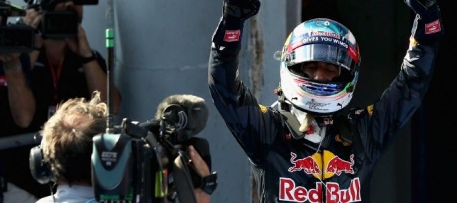 Ricciardo celebra su victoria