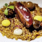 Cocina y presentación meticulosa en los platos del Cenador de Amós (Cantabria)