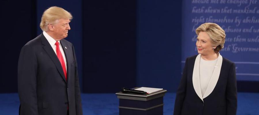 Donald Trump y Hillary Clinton, en su segundo cara a cara electoral
