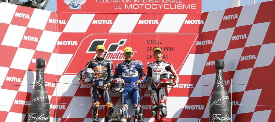 Podio de Moto 3 del GP de Japón