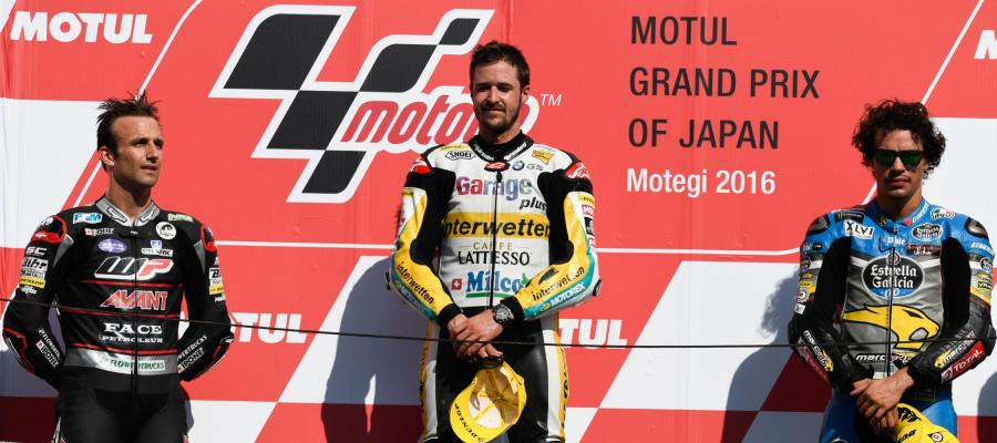 Podio de Moto 2 del GP de Japón