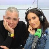 India Martínez con Juan Ramón Lucas
