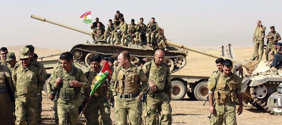 Miembros de las fuerzas kurdas 'peshmergas'
