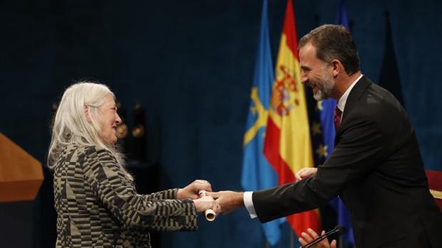 Mary Beard en la ceremonia de entrega de los Premios Princesa de Asturias