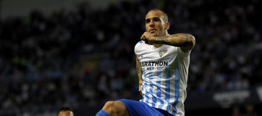 Sandro Ramírez celebra su gol ante el Leganés