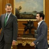 El Rey Felipe VI recibe a Alberto Garzón