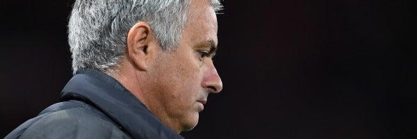 José Mourinho, durante un partido con el United