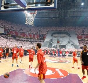 El Kombank Arena, durante un partido de Euroliga