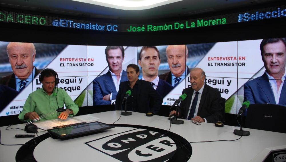 Vicente Del Bosque con Julen Lopetegui en El Transistor.