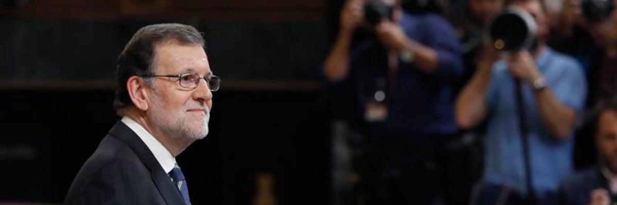 Mariano Rajoy durante su discurso de investidura en el Congreso