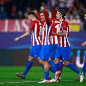 Griezmann celebra su gol al Rostov