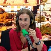 La escritora Carmen Posadas durante una entrevista en Onda Cero