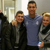 Cristiano Ronaldo, junto a David Pawlaczyc