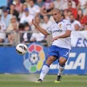 Carlos Aranda, en un partido con el Real Zagaroza