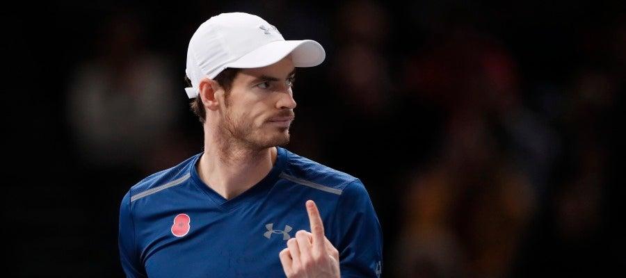 Andy Murray celebra su número 1 en la ATP ganando la final del Masters 1000 de Paris-Bercy