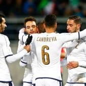 Italia celebrando un gol
