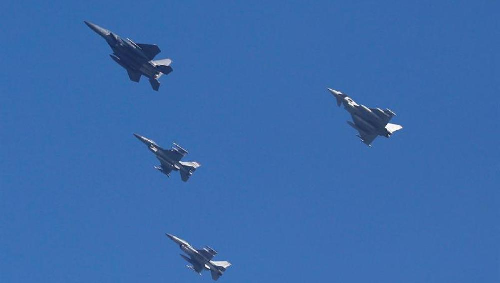 Aviones de combate Eurofighter (Archivo)