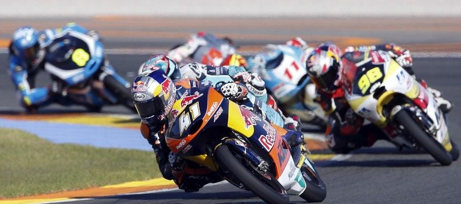Binder, rondando durante el GP de Valencia