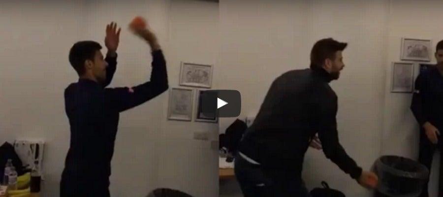 Duelo entre Djokovic y Piqué