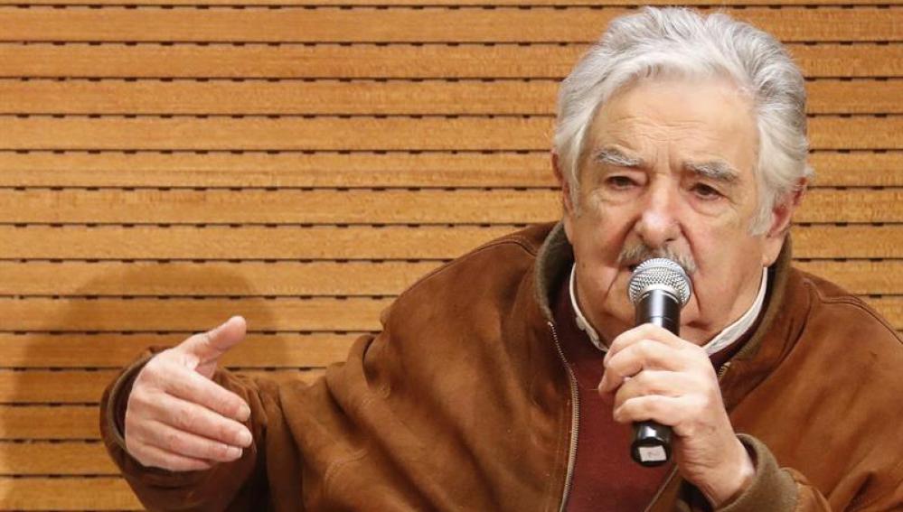 Mujica en el Palacio de Cibeles, este lunes