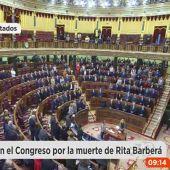 El Congreso guarda un minuto de silencio por la muerte de Rita Barberá