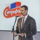 El Rey Felipe VI, en la nueva factoría de Campofrío.