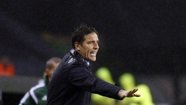 Berizzo, durante un partido de Europa League