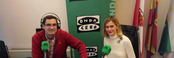 Javier Barbero con Verónica Samperio