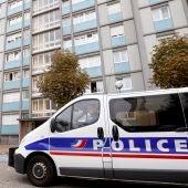 Un coche de policía francesa