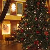 Un gran árbol de navidad decora las Galerías Velvet