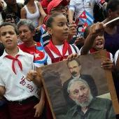 Fidel Castro llega a Santiago de Cuba