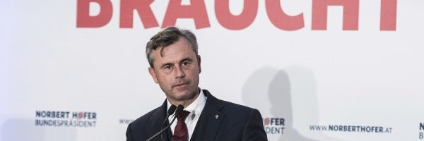 El candidato ultraderechista Norbert Hofer