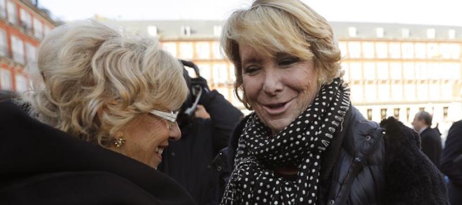 Esperanza Aguirre y Manuela Carmena