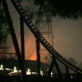 Incendio en el Ferrari Land de Salou.