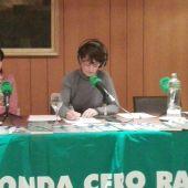 María Gómez con Eva Bartolomé