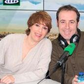 Los actores Anabel Alonso y Antonio Molero durante una entrevista en Onda Cero