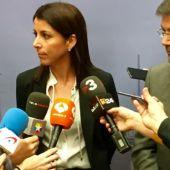 Anna González, en su reunión con Soria.