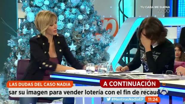 """Isabel Gemio rompe a llorar en directo por el caso Nadia: """"Ojalá mi fundación no tuviera que existir"""""""
