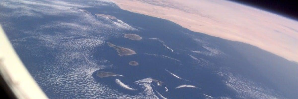 Canarias desde la ISS
