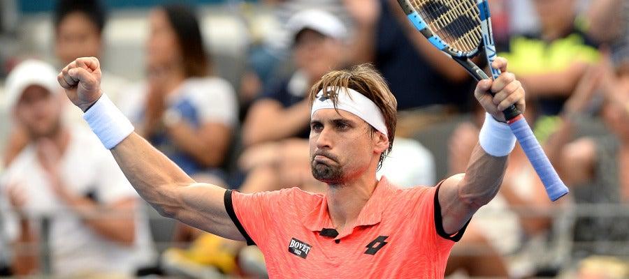 David Ferrer celebra su victoria
