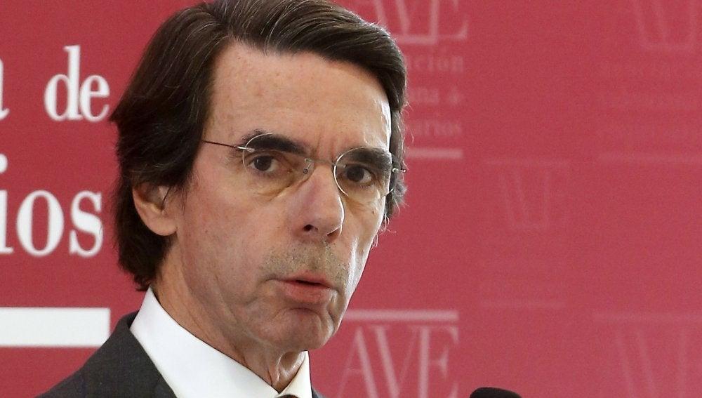 José María Aznar en un acto en Valencia