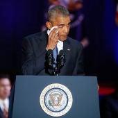 Obama, emocionado en su discurso de despedida