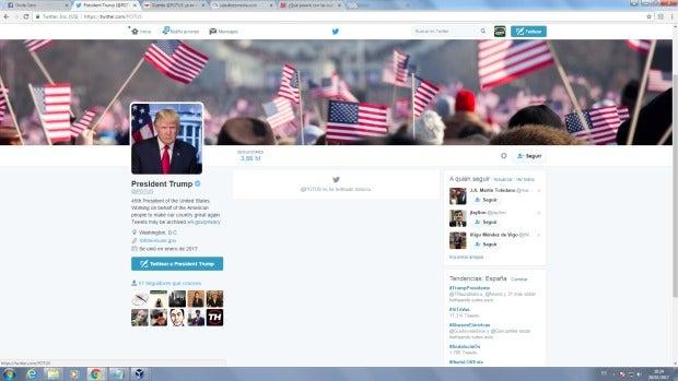 Donald Trump ya tiene la cuenta oficial de @Potus (