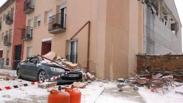 Daños provocados por la explosión de una estufa butano en Zaragoza