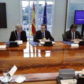 Mariano Rajoy preside el Consejo de Seguridad Nacional en Moncloa